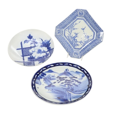 Chinese Porcelain Blue and White Plates