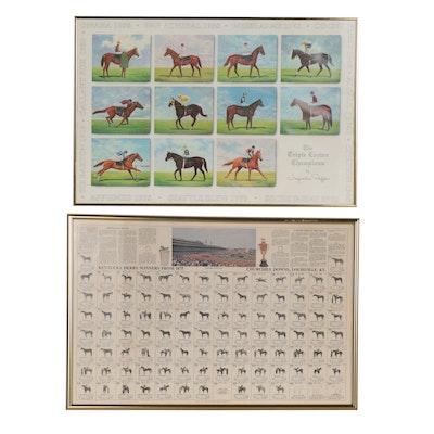 "Offset Lithographs ""Kentucky Derby Winners"" and ""Triple Crown Champions"""