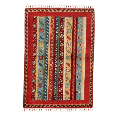 3'6 x 5'3 Hand-Knotted Afghan Area Rug