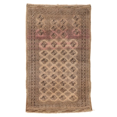 2'8 x 4'5 Hand-Knotted Afghan Turkmen Prayer Rug