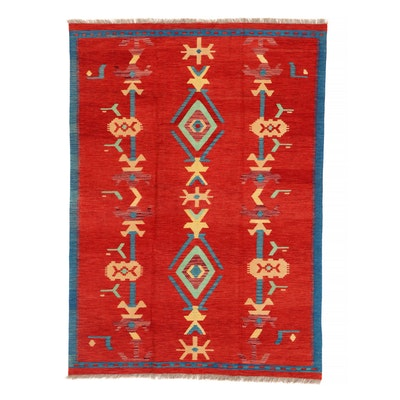 4'10 x 6'11 Handwoven Afghan Kilim Area Rug