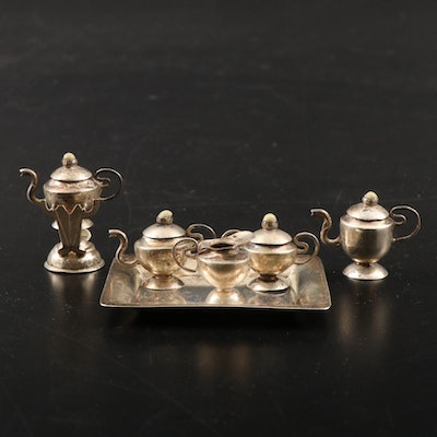 Currier & Roby Miniature Sterling Silver Tea and Coffee Service, Early 20th C.