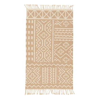 3' x 5'3 Handwoven Indian Dhurrie Area Rug