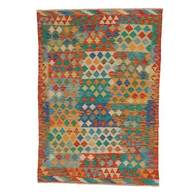 4'3 x 6' Handwoven Afghan Kilim Area Rug
