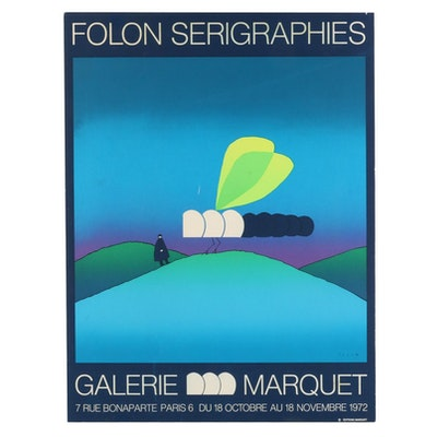 "Serigraph after Jean-Michel Folon ""Folon Serigraphies,"" 1972"