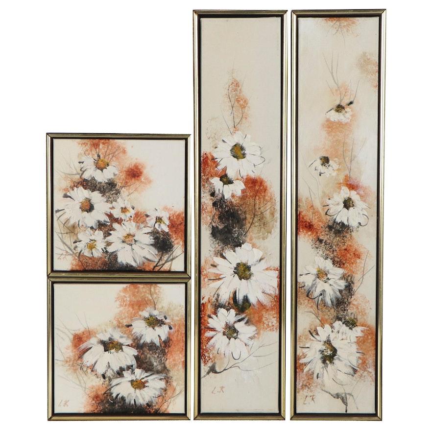 Lee Reynolds of Vanguard Studio Impasto Oil Paintings of Flowers, 21st Century