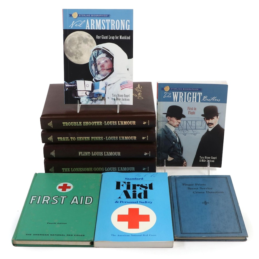 """Louis L'Amour Collection with Signed """"Sterling Biographies"""" Series and More"""