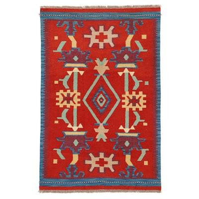 4' x 6'3 Handwoven Afghan Kilim Wool Area Rug