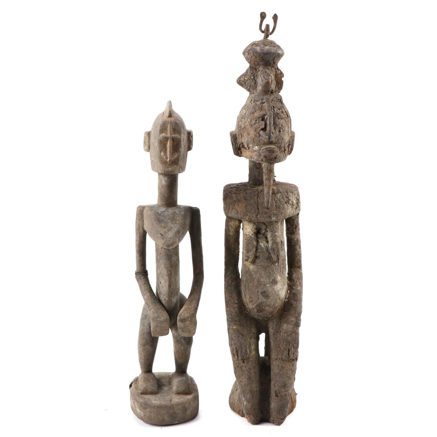 Dogon Style Hand-Carved Wood Figures, West Africa