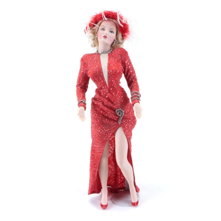 "Franklin Heirloom Marilyn Monroe ""Gentlemen Prefer Blonds"" Porcelain Doll"