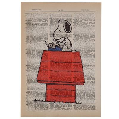 Giclée of Snoopy, 21st Century