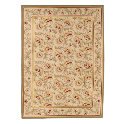 9'7 x 13'5 Handwoven Aubusson Style Wool Room Sized Rug
