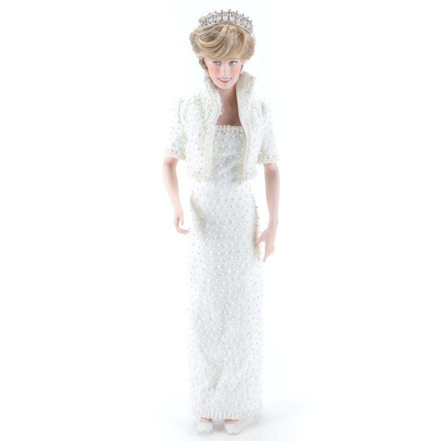 "Franklin Mint ""Diana, Princess of Wales"" Porcelain Portrait Doll"