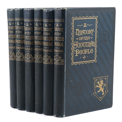 "Complete ""A History of the Scottish People"" Six-Volume Set, 1893–1894"