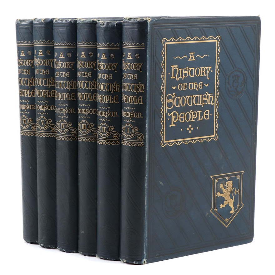 """Complete """"A History of the Scottish People"""" Six-Volume Set, 1893–1894"""