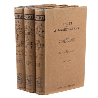 """Tales of a Grandfather"" Three-Volume Set by Sir Walter Scott 1923"