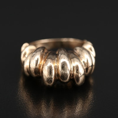 14K Fluted Dome Ring