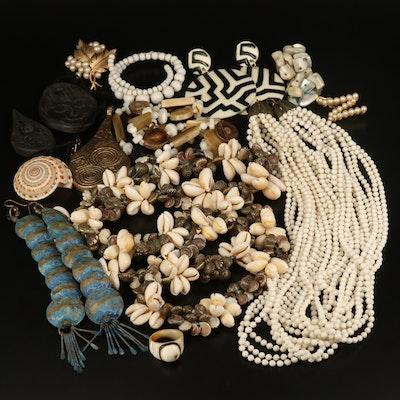 Crown Trifari, Leaf Brooch, Torsade and Vintage Jewelry