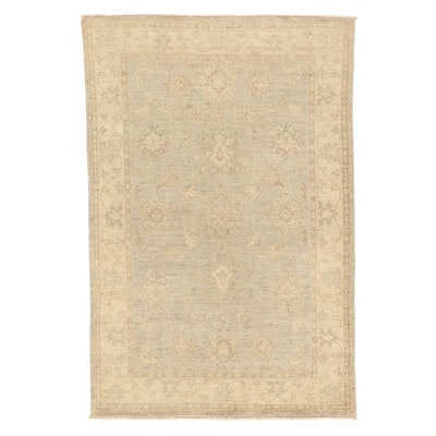 4'1 x 6'1 Hand-Knotted Pakistani Peshawar Wool Area Rug