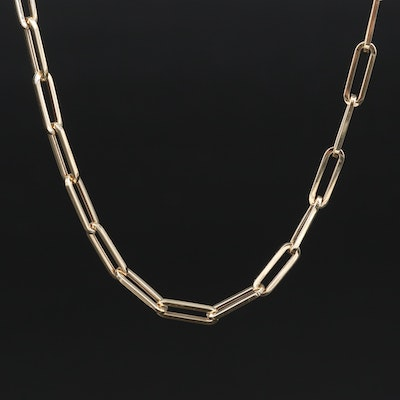 Italian 14K Oval Cable Chain Necklace