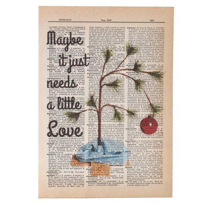 "Giclée on Dictionary Page ""Maybe It Just Needs a Little Love"""