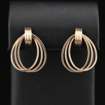 14K Ellipse Earrings