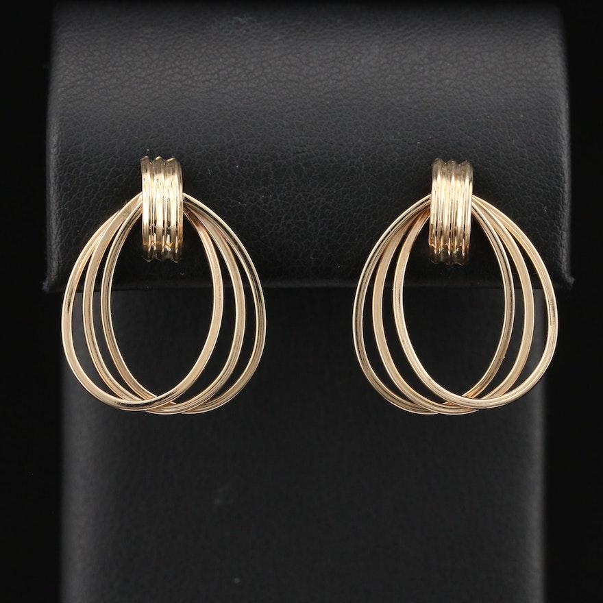 14K Ellipse Earrings