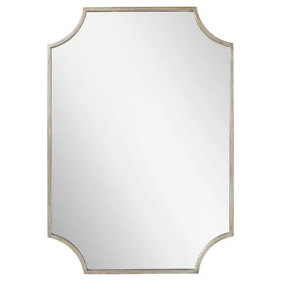 """Ulric"" Decorative Bathroom Vanity Mirror in Antique Sliver"