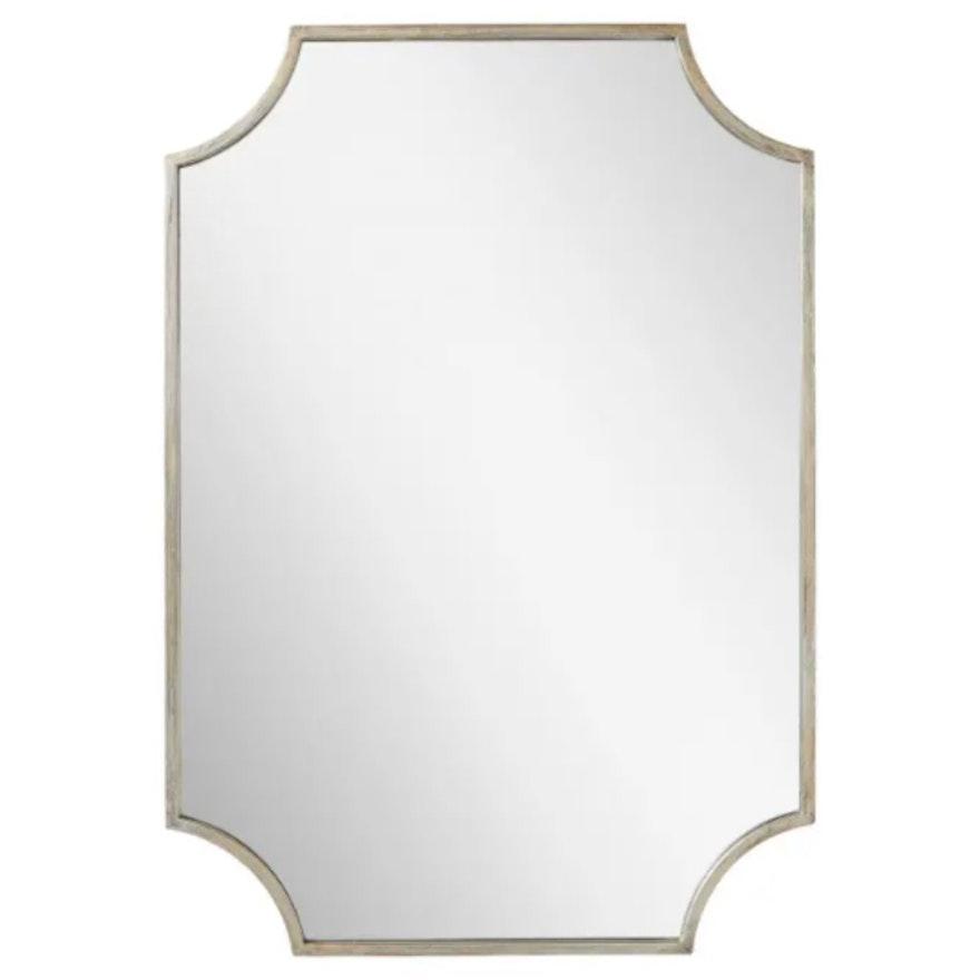 """""""Ulric"""" Decorative Bathroom Vanity Mirror in Antique Silver"""