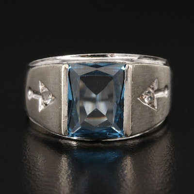 10K Spinel Ring with Arrow Shoulders