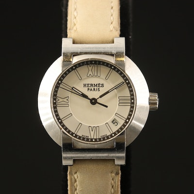 "Hermès ""Nomad"" Wristwatch with Date Window"