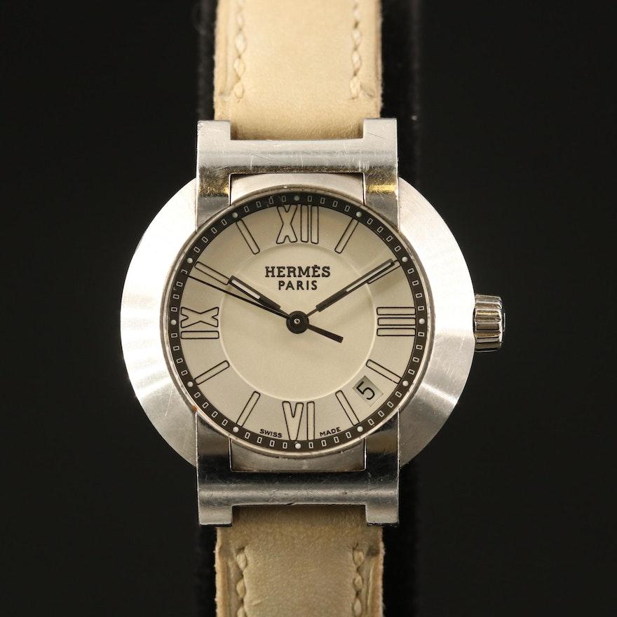 """Hermès """"Nomad"""" Wristwatch with Date Window"""
