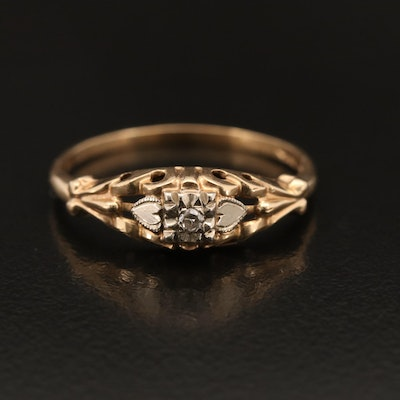 1930s 14K Diamond Solitaire Ring