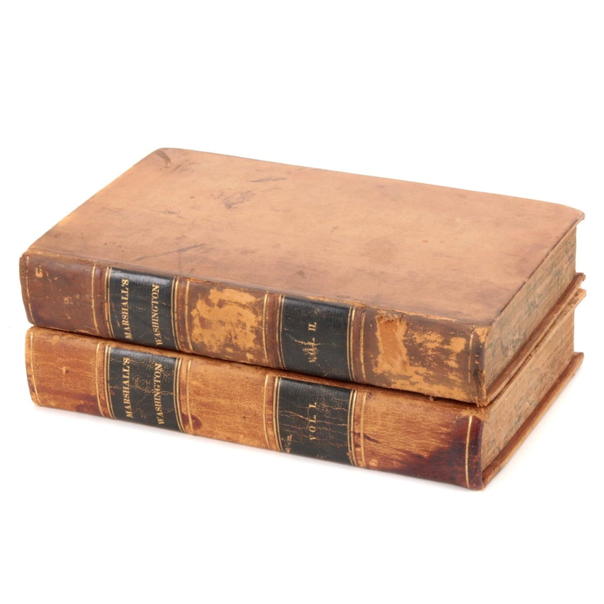 """The Life of George Washington"" Two-Volume Set by John Marshall, 1835"