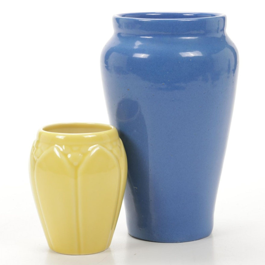 Rookwood Pottery and Bybee Pottery of Lexington Ceramic Glazed Vases