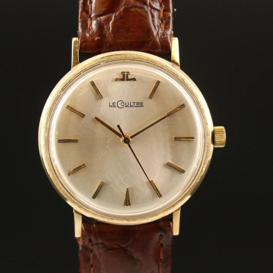 Vintage LeCoultre 14K Yellow Gold Stem Wind Wristwatch