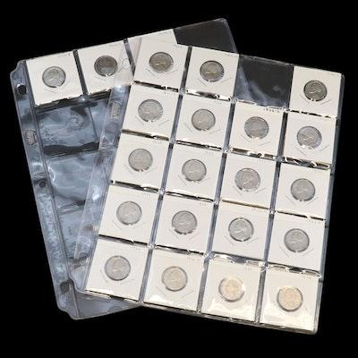 22 Jefferson Nickels, 1947–1978