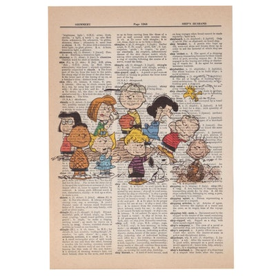 Giclée of Peanuts Cast, 21st Century