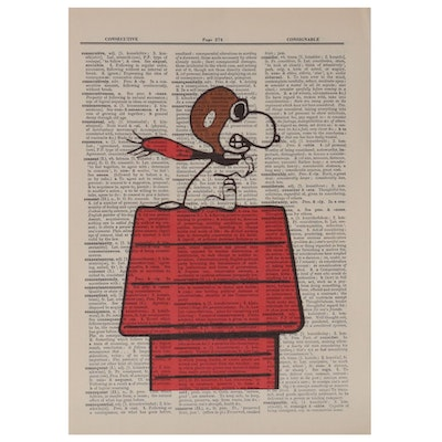 Giclée after Charles M. Schulz of Snoopy
