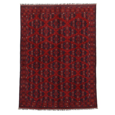 5'8 x 7'9 Hand-Knotted Afghan Turkmen Area Rug