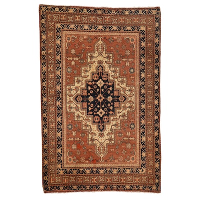 3'11 x 6' Hand-Knotted Northwest Persian Wool Area Rug