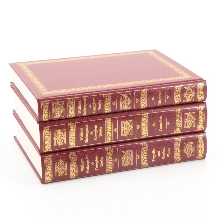 "Illustrated ""The Complete Works of Shakespeare"" Three-Volume Set"