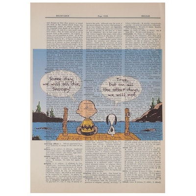 Giclée after Charles M. Schulz of Charlie Brown and Snoopy