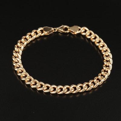 Italian 14K Curb Link Bracelet