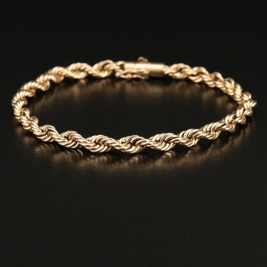 14K Rope Chain Bracelet