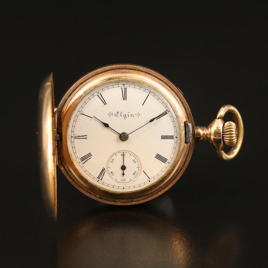 1899 Elgin Gold Filled Hunting Case Pocket Watch