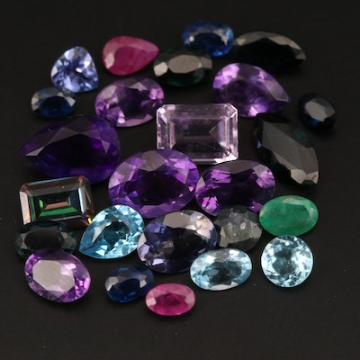 Loose 19.09 CTW Ruby, Sapphire, Amethyst and Additional Gemstones