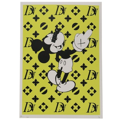 """Death NYC Pop Art Style Offset Lithograph """"Mouse Finger DN Y"""""""