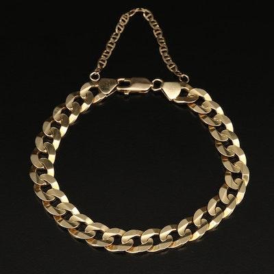 Italian 14K Curb Link Chain Bracelet