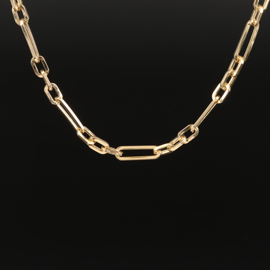 14K Figaro Link Chain Necklace